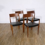 Serie de chaises vintage danoise en teck