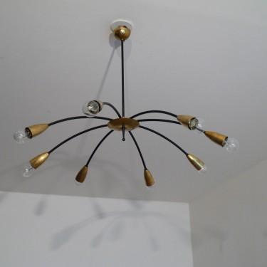"Grand lustre ""spider"" 1960"