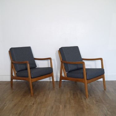 Paire de fauteuil danois design de Ole Wanscher modèle FD109