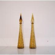 """Paire de carafes italiennes """"Empoli""""1970"""