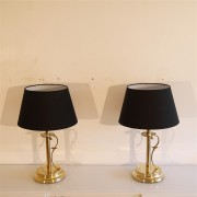 "Paire de lampes vintage en laiton ""Tsar"" de Tranas stilarmatur"